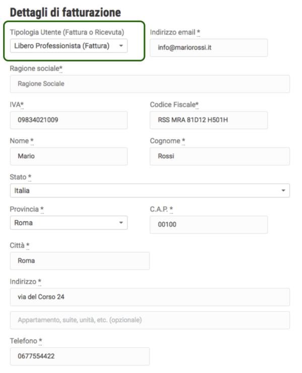 WooCommerce P.IVA e Codice Fiscale per Italia PRO | Libero professionista - fattura